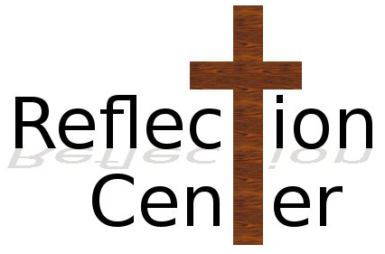 Reflection Center Logo - Cross replaces the two T's in Reflection     Center